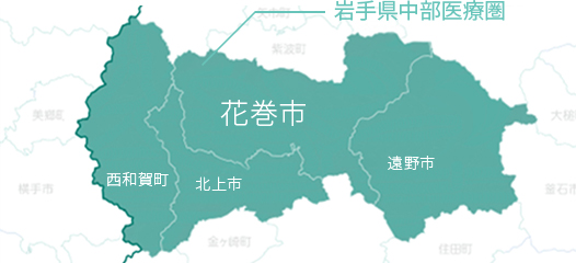 岩手県中部医療圏の人口