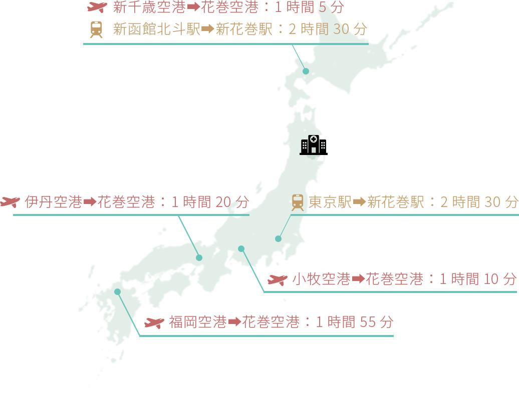 日本全国からのアクセス